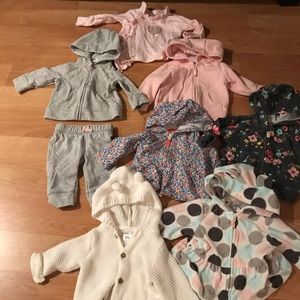 Other - Lot of 7 hooded sweatshirts + pants + sweatshirt